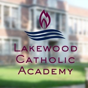 Lakewood Catholic Academy logo on school